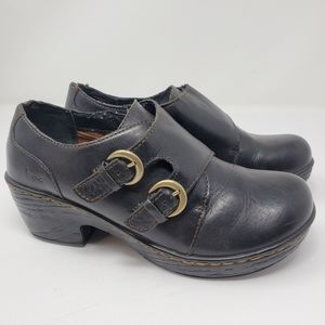 Born Concepts dark Brown Leather Clogs Size 7